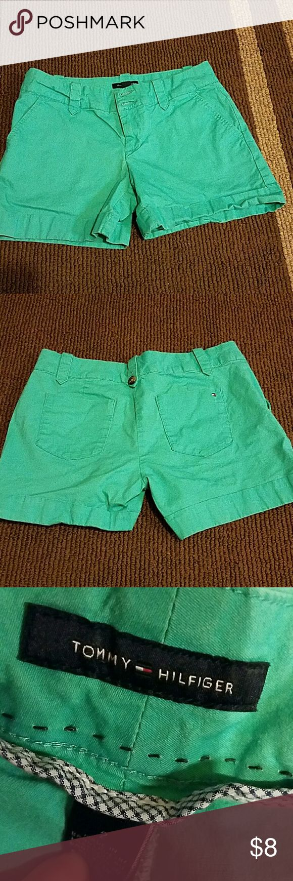 Tommy Hilfiger shorts Turquoise shorts. No stains. Needs ironed. Tommy Hilfiger Shorts