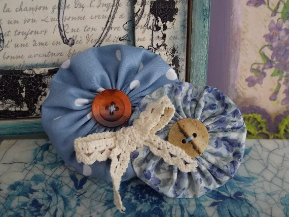 Handmade fabric flower brooch Pal Romance. Made by by FromIrene, €8.00