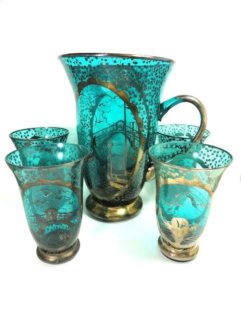 Rare Antique Italian Teal Glass Lemonade by MemoriesofYesterday, $350.00