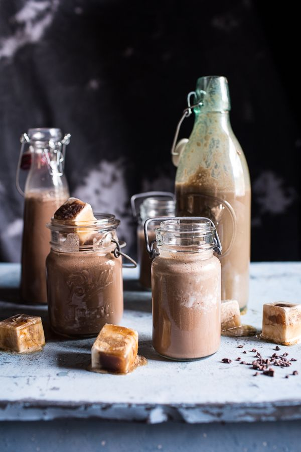 When a little afternoon pick me up is a necessity. Can't wait to try this chocolate almond milk with creamy malted coffee ice cubes.