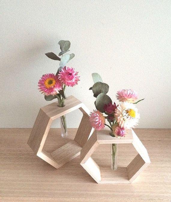 Timber Bud Vase by OneWhiteSunday on Etsy, $24.95