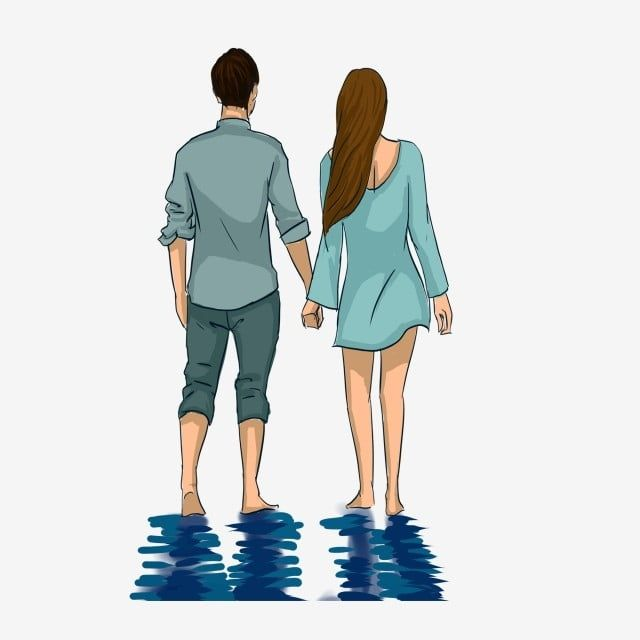 Couple Holding Hands Watching Landscape Back View And Reflection In Water Hand In Hand Look At The Scenery Couple Png Transparent Clipart Image And Psd File Couple Holding Hands Couple