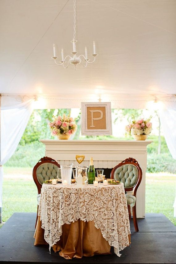 White Lace Table Overlay by CandyCrushEvents on Etsy