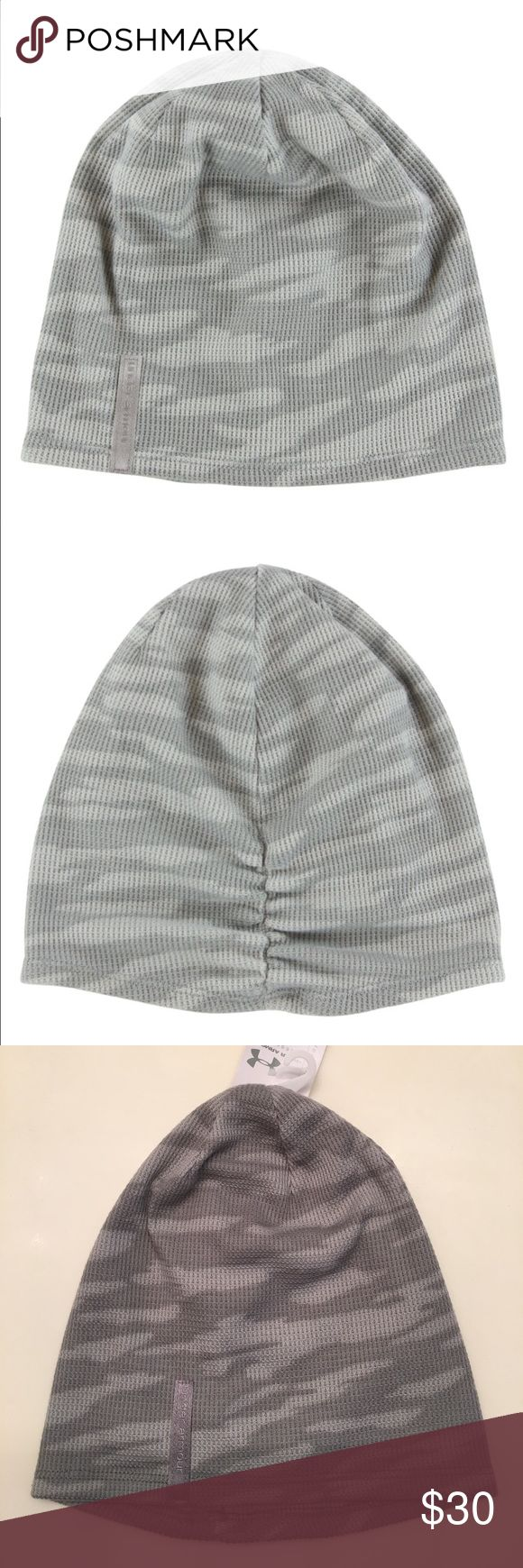 Under Armour Women's UA Waffle Beanie Textured waffle knit that locks in heat while the slouchy construction and ruched back means you get function as well as fashion. Allover sky camo print. Under Armour Accessories Hats