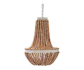 suspension perle m tal et bois naturel 45 129. Black Bedroom Furniture Sets. Home Design Ideas