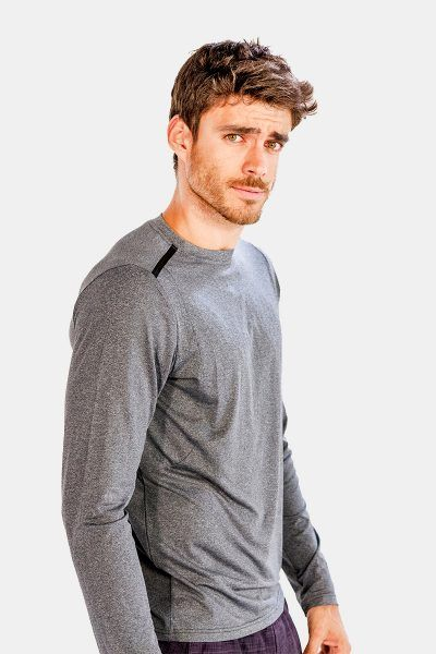 Grey Full Sleeve #Tee #shirts for #Men Online at Alanic Activewear