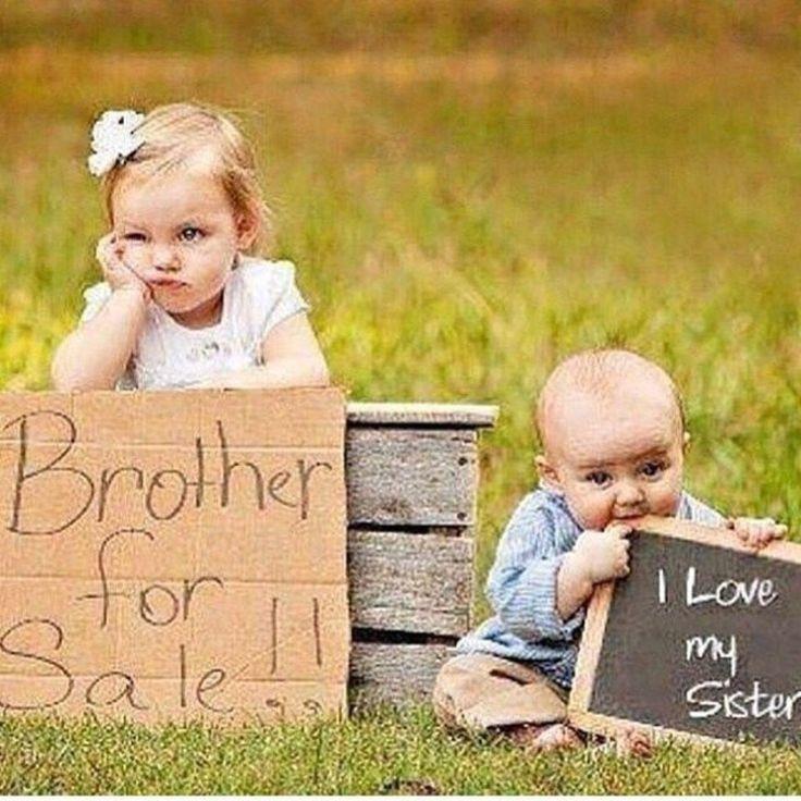 Картинки брат и сестра смешные