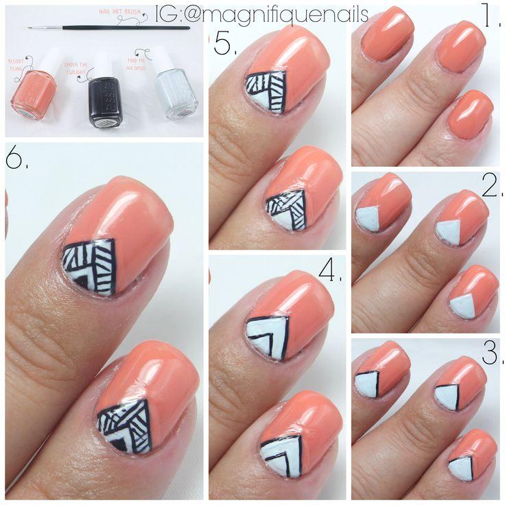 Tribal V Tutorial #nails #nailart #tutorial #diy #triablnails #tribal