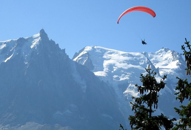 Paragliding in Chamonix, France