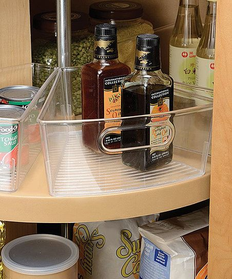 Lazy Susan Storage Bins With Handle For Kitchen Cabinets Pantry