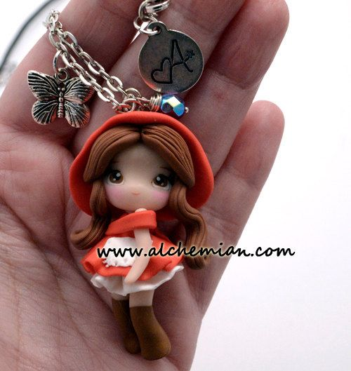 1  Red Riding Hood chibi necklace made in italy by AlchemianShop, €30.00