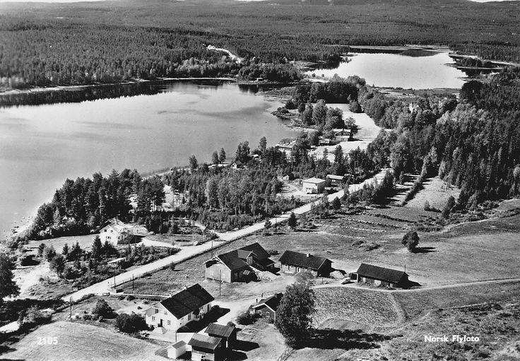 HEDMARK Åsnes kommune Finnskogen, Vermundsjøen - Parti fra stedet Utg Norsk Flyfoto