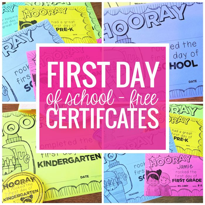 Celebrate the first day of school with free first day of school certificates. These first day of school certificate are editable and super cute.