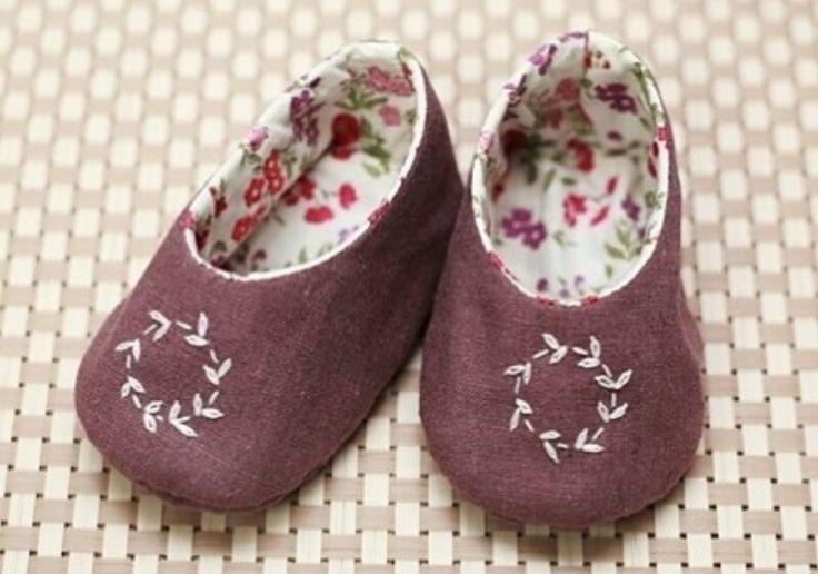 아기 신발 자수