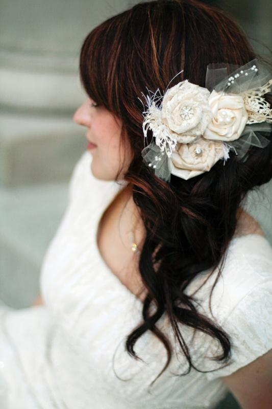 Red Chandelier: Bridal Headpiece