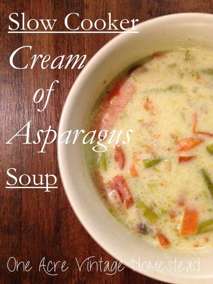 ... Cream of Asparagus Soup | Recipe | Asparagus Soup, Asparagus and Soups