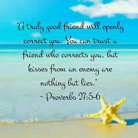 Proverbs 27:5-6
