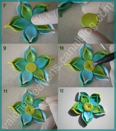 Part 2 of flower tutorial....Valerie Creations...