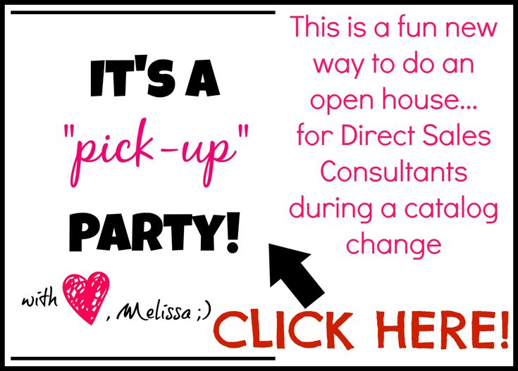 Open House idea for Direct Sales consultants