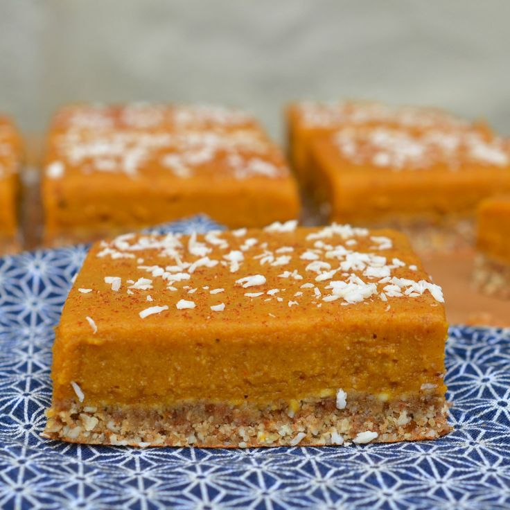 No-Bake Recipe:  Gluten-Free and Vegan Chai-Spiced Pumpkin Bars   Recipes from The Kitchn: Vegan Pumpkin, No Bake Recipe, Food, Chai Spiced Pumpkin, Pumpkin Bars, Bar Recipes, Bars Recipe, Gluten Free, Vegan Chai Spiced