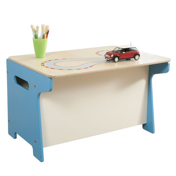 Traditional Toys - This lovely desk by Millhouse also doubles up as a toy box! Available to buy now for £109.99. Free UK mainland shipping.