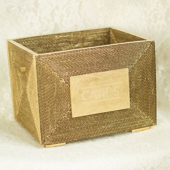 Gorgeous gold card box with 1920's flare #layeredny Wedding Card box basket Gold mail Gatsby Wedding by ByNaturelle, $45.00 -etsy