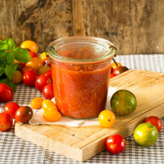 Zomerse tomatensaus