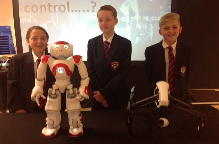 St Benedict's Students Inspired at Special Science Roadshow http://www.cumbriacrack.com/wp-content/uploads/2017/09/Cody-Fyfe-Jamie-Carney-Jackson-John-Williamson-pictured-with-Robot-Mia.jpg Year 7 students from St Benedict's School in Whitehaven, enjoyed a special roadshow from BAE Systems last week, which incorporated robotics, drones, coding and all things STEM related    http://www.cumbriacrack.com/2017/09/25/st-benedicts-students-inspired-special-science-roadshow/