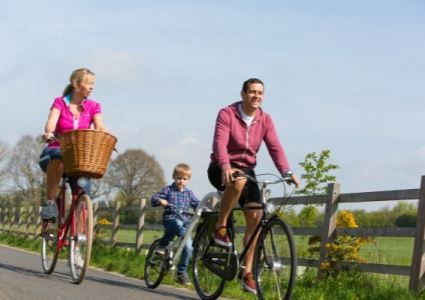 Cycling along the Exe Estuary Trail