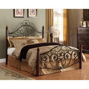Log Bed Frame Queen Size