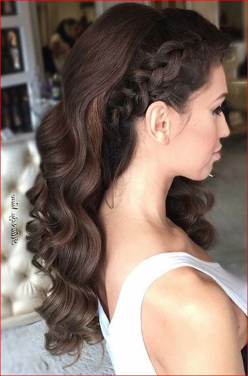 Long formal hairstyles down