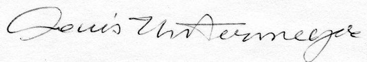 "Louis Untermeyer Poet Critic Editor Anthologist Author Essayist Deceased Autograph Index Card 3""x5"" w/ COA"