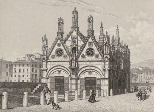 1840-1843 - Santa Maria della Spina à Pise. Daguerreotype Lerebours