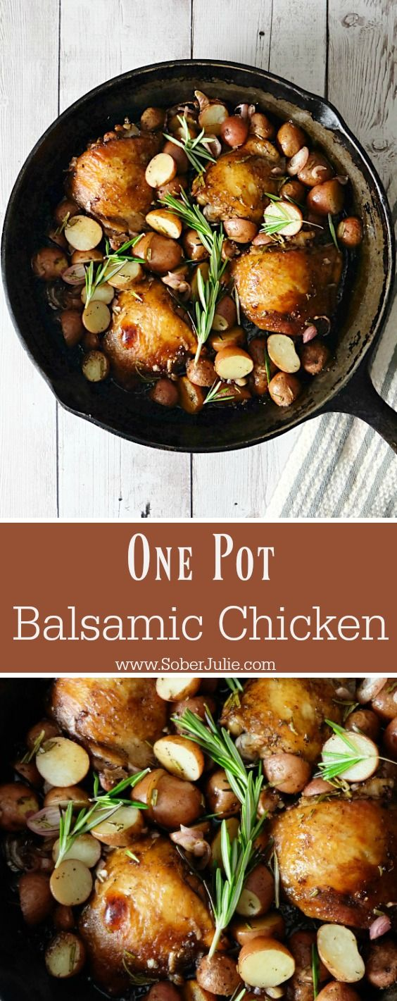 I'm looking forward to trying this one pot balsamic chicken dinner recipe.