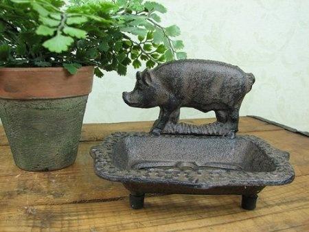 Amazon.com: Shabby Cottage Chic Iron Pig Soap Sponge Holder: Home U0026 Kitchen