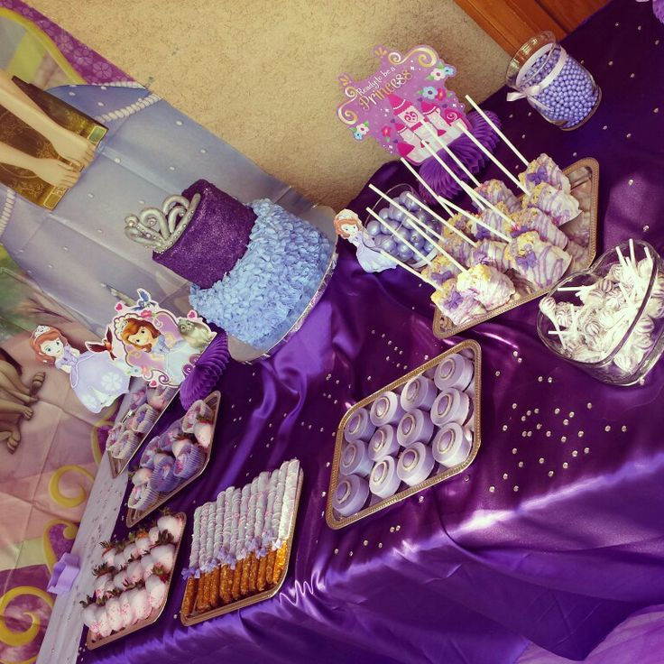 Sofia The First Sweets Table