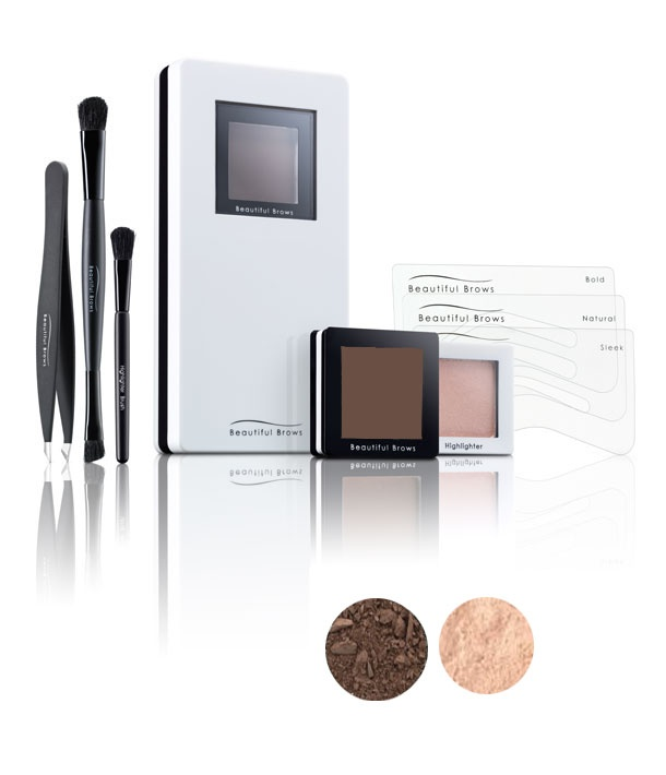 Beautiful Brows Kit Eyebrow Powders Dark Brown www.tofem.com