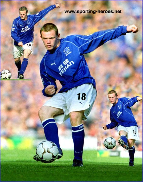 Wayne Rooney - Everton FC - Premiership Appearances