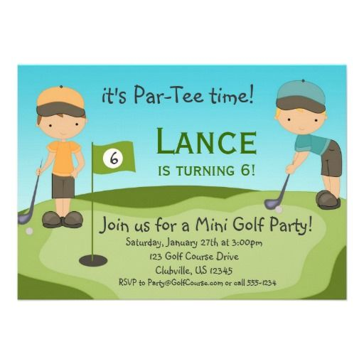 20 best golf themed birthday invitations images on pinterest little boys golf birthday party invitation stopboris Image collections