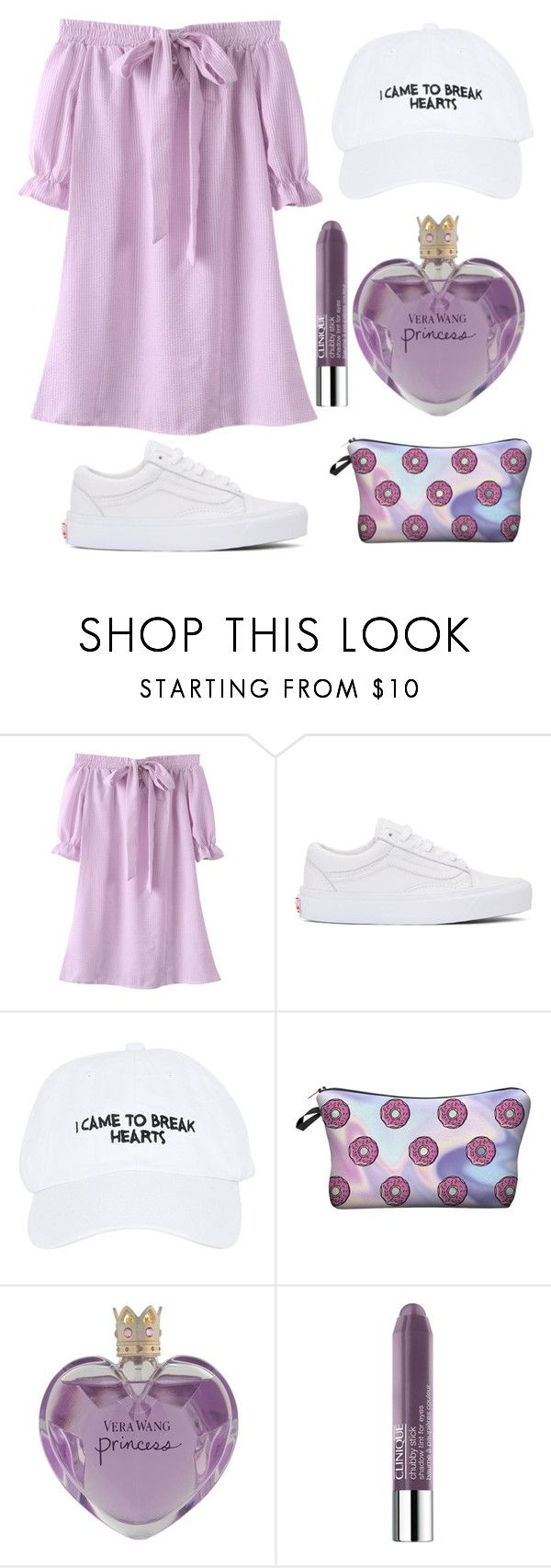 """""""I came to break hearts ;)"""" by lujzazsu ❤ liked on Polyvore featuring Vans, Nasaseasons, Vera Wang, Clinique, dress, comfy, Lila and Spring2017"""