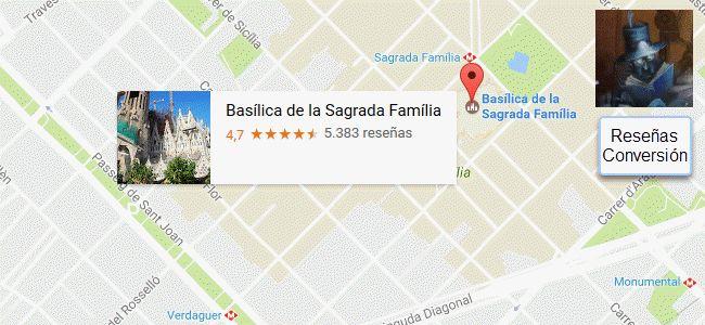 Compartir reseñas de Google Maps
