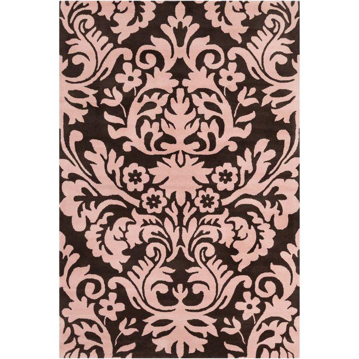 Cinzia Dark Brown Light Pink Floral Area Rug Products