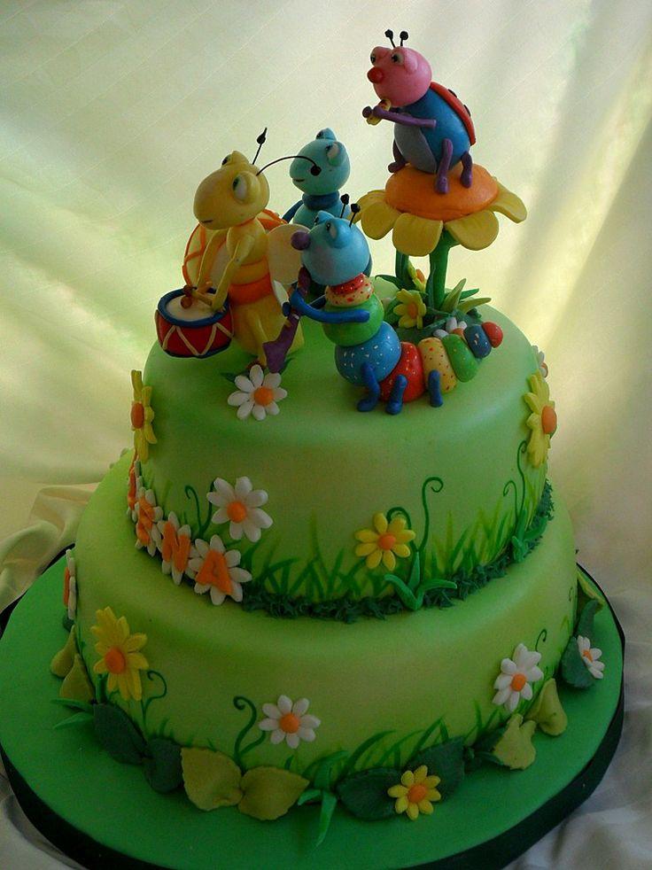 Big Bugs Band Cake Kids Cakes Pinterest Cake