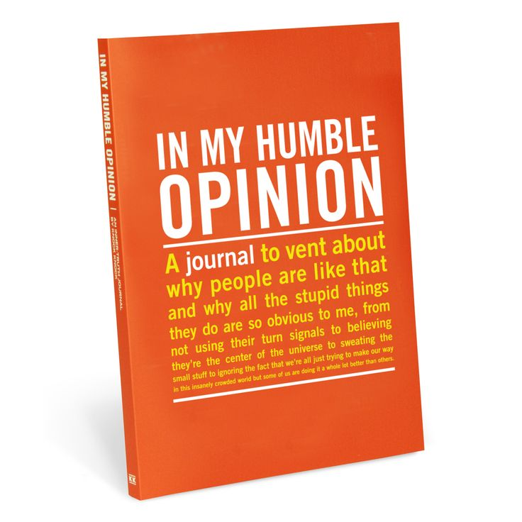 Knock Knock In My Humble Opinion Guided Journal | Free Ship $35+