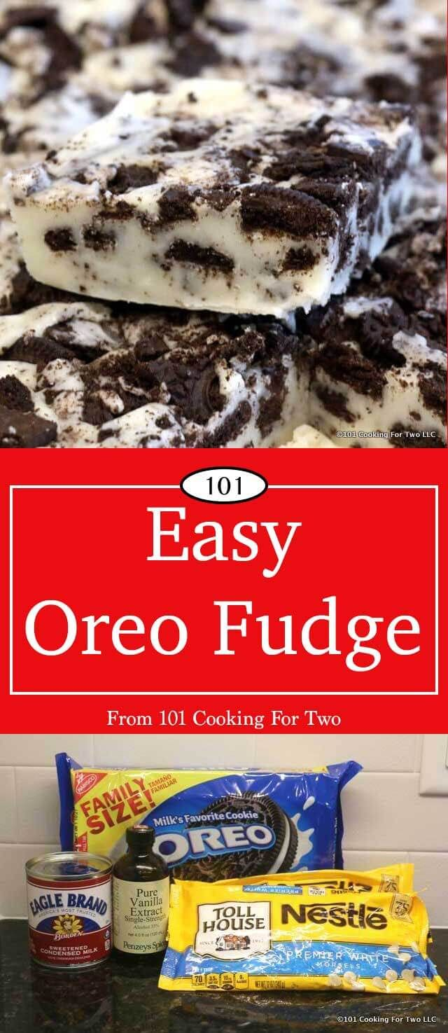 Outstanding Oreo fudge that will practically melt in your mouth. Only 4 ingredients and ultra-simple. Great for the holiday office party or a gift. via @drdan101cft