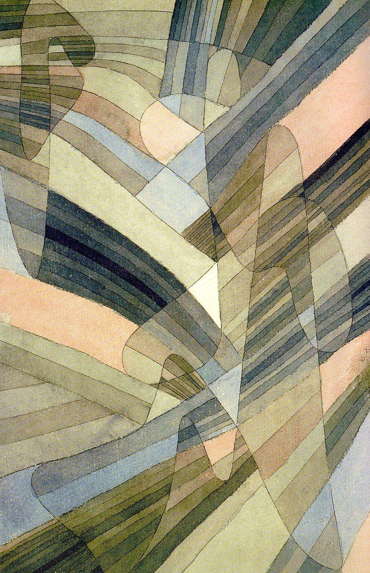 Paul Klee, Courants polyphoniques, 1929. Aquarelle et plume sur carton, 43,8 x 28,9 cm. Kunstsammlung Nordrhein-Westfalen, Düsseldorf. Cette œuvre a été reproduite p. 95 de l'édition Paul Klee, Parkstone international, 2013.