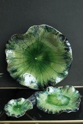 Waterlily Ceramic Plates