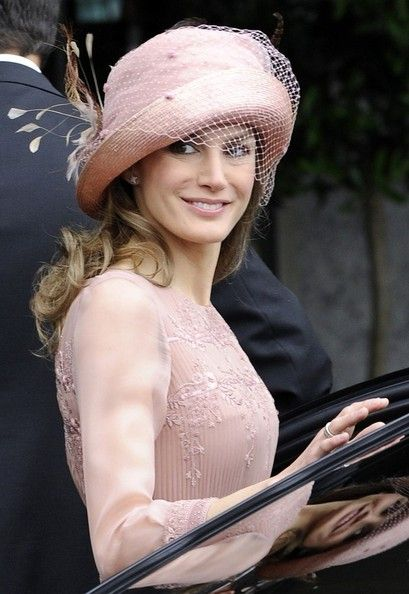 hat worn by Princess Letizia of Spain to the wedding of Prince William and Kate Middleton
