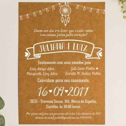 Convite de casamento filtro dos sonhos