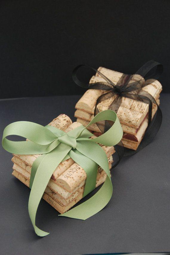 Wine Cork Coasters by GulfCoasters on Etsy, $12.50